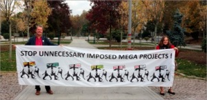 """Lisa ve Paolo Gezi'de: """"Gereksiz ve Dayatılan Mega-Projeleri Durdurun!"""""""