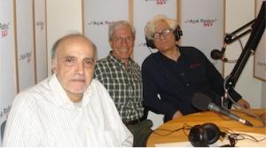 Halil Turhanlı, Ömer Madra ve Franco Berardi Açık Radyo'da stüdyoda