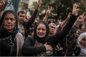 10 Ekim 2015, Ankara. Emek, Barış, Demokrasi mitingine yapılan saldırınardından, aynı gün yapılan protestodan. (Kaynak: Nar Photos, Ufuk Koşar)