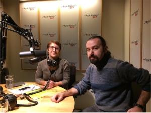 Kıvanç Sezer Sinefil'de Açık Radyo stüdyosunda Yeşim Burul'la.